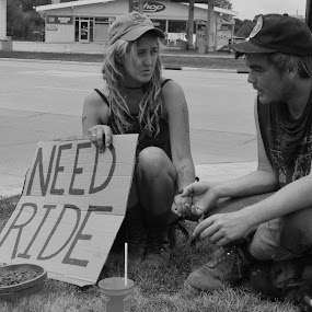 Homeless couple by Tim Faust - People Street & Candids (  )