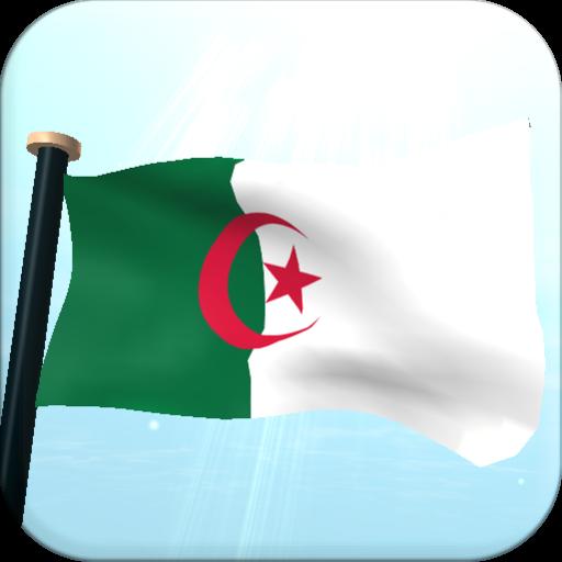 Algeria Flag 3D Free Wallpaper