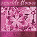 Pink Sparkle Flower for GO SMS