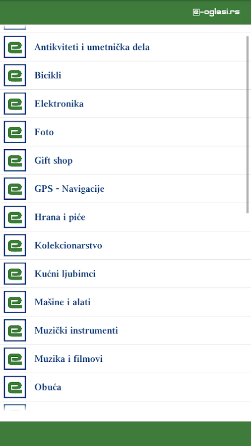 e-oglasi - screenshot