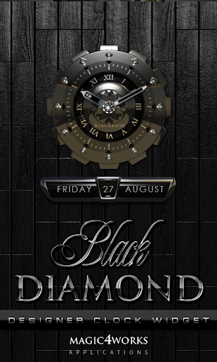 Black Diamond Clock Widget