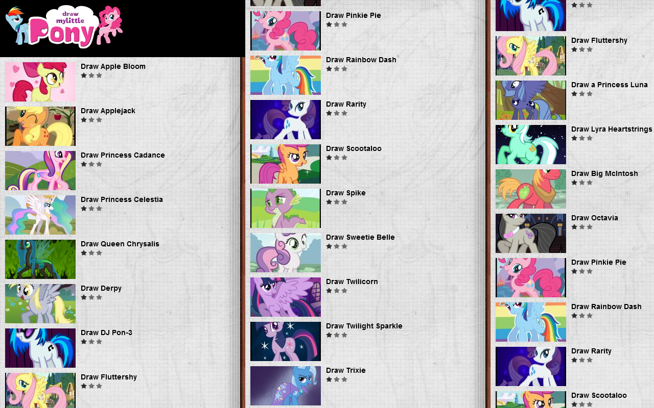 How to Draw My Little Pony - screenshot
