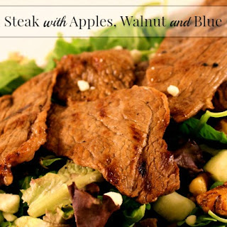 Maple Steak with Apple, Walnut and Blue Cheese Salad.