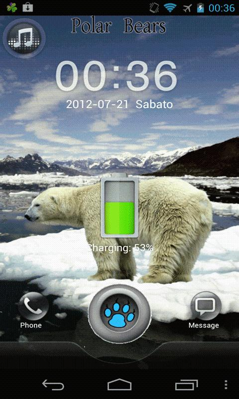 Polar Bears GO Locker Theme - screenshot