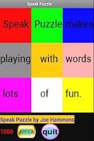 Screenshot of Speak Puzzle