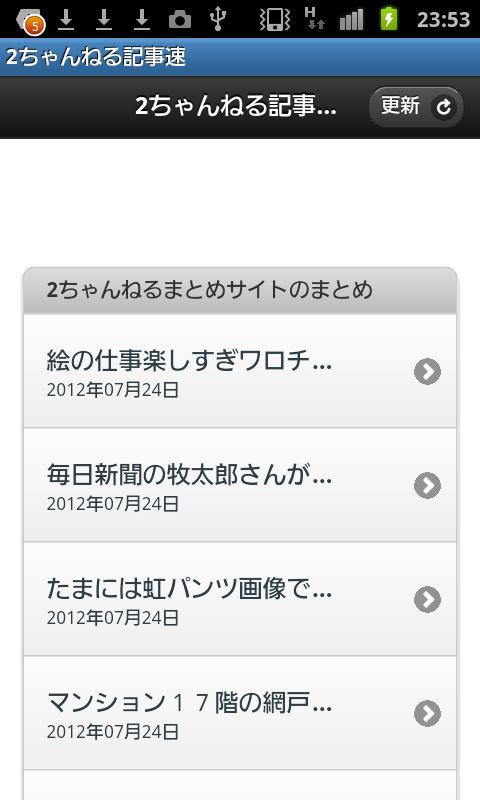 2ちゃんねる記事速 - screenshot
