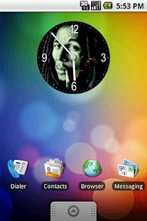 Bob Marley Clock Widget 2x2 - screenshot thumbnail