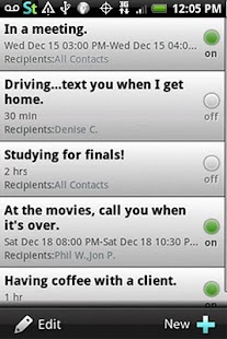 Siesta Text: Auto Away Message- screenshot thumbnail