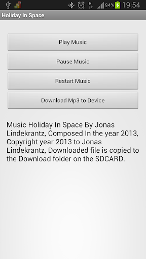 Music Holiday In Space