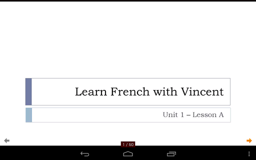 French with Vincent - Unit 1