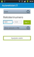 Screenshot of Autorekisteri.fi - Kenen auto?