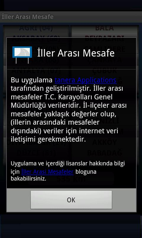 İller Arası Mesafe - screenshot