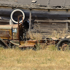 How Much For The Whitewall by Ed Hanson - Artistic Objects Antiques ( old, truck, tire )
