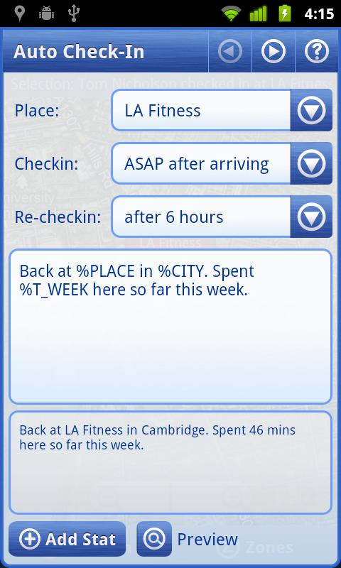 Smart Places Checkin Key - screenshot