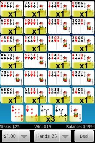 Jumbo Video Poker Screenshot