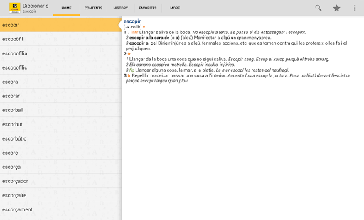 Catalan Dictionary / Thesaurus- screenshot thumbnail