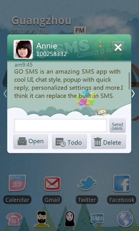 GO SMS Pro Paradise Theme- screenshot