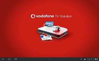 Screenshot of Vodafone TV Solution Tablet
