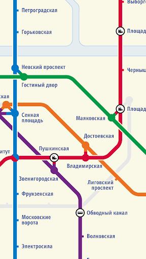 【免費交通運輸App】聖彼得堡地鐵路線圖-APP點子