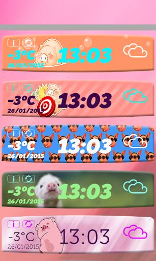 小豬天氣及時鐘小工具