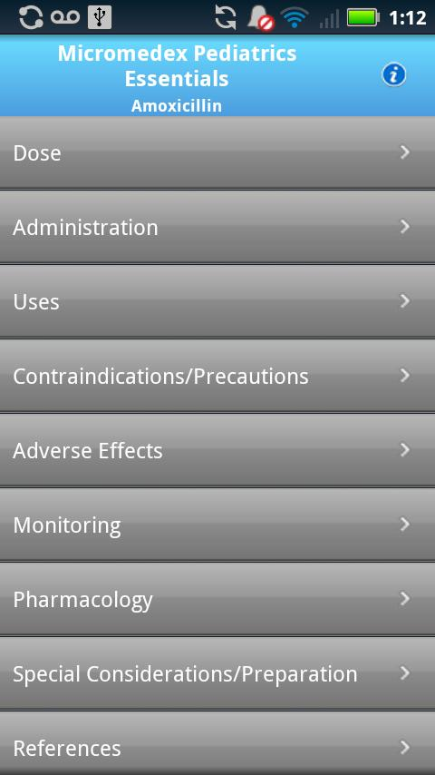 IBM Micromedex Pediatrics Screenshot 3
