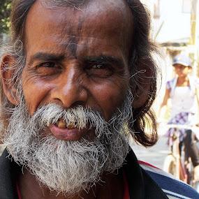 Wrinkled 1 by Udaybhanu Sarkar - People Portraits of Men ( close up, man, portrait, aged, wrinkled )