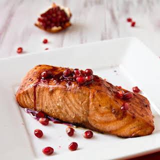 Grilled Pomegranate-Glazed Salmon.