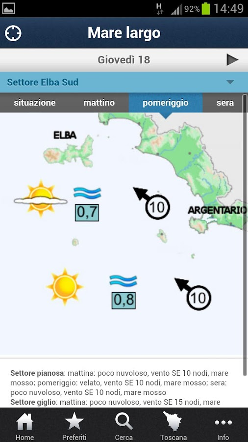 LaMMA Meteo- screenshot