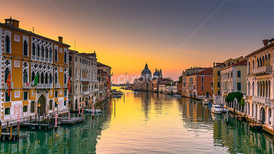 5:49 am: sunrise on the Grand Canal by Roberto Melotti - City,  Street & Park  Historic Districts ( venezia, roberto melotti, grand canal, venice, nikon d7100, sunrise, italy, canal grande,  )