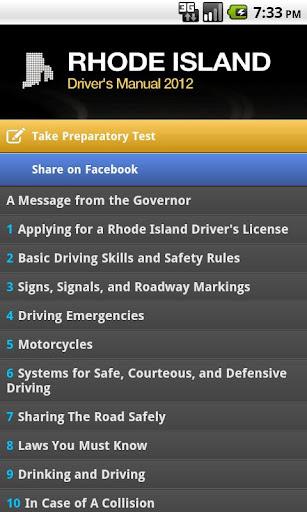 Rhode Island Driver's Manual