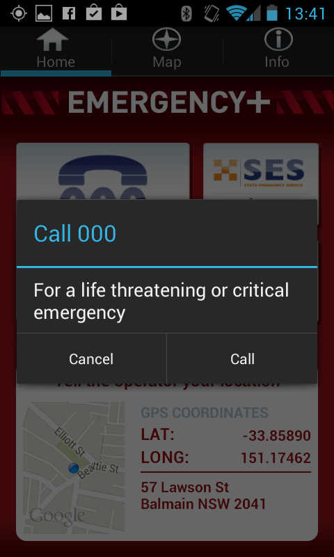Emergency+- screenshot