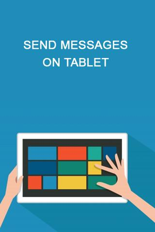 Send Messages On Tablet