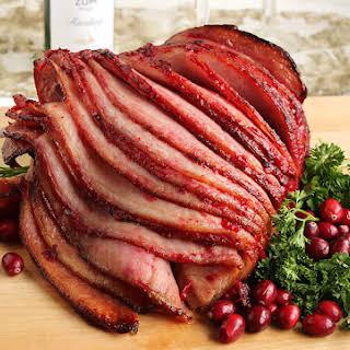 Riesling-Cranberry Glazed Spiral Ham.