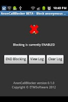 Screenshot of AnonCallBlocker