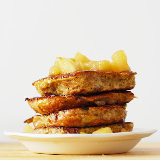 Hot Cross Bun French Toast with Apple Compote.