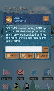 GO SMS Pro Cowboy Theme - screenshot thumbnail