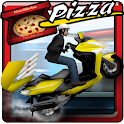 Pizza Bike Delivery Boy icon