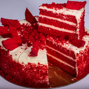 Fire Cake by Avi Chatterjee - Food & Drink Cooking & Baking ( cake, red, bakery, flavor, baking, fire )