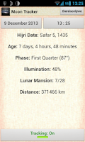 Screenshot of Moon (Phase) Tracker