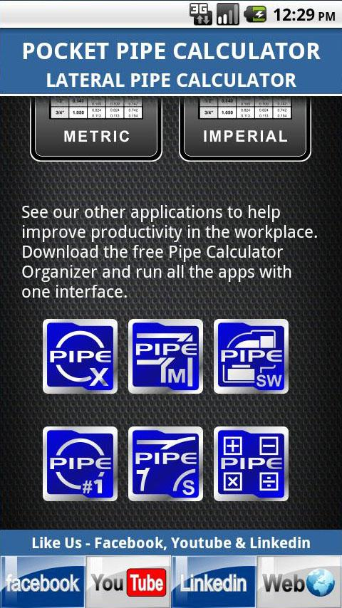 Lateral Pipe Calculator - screenshot