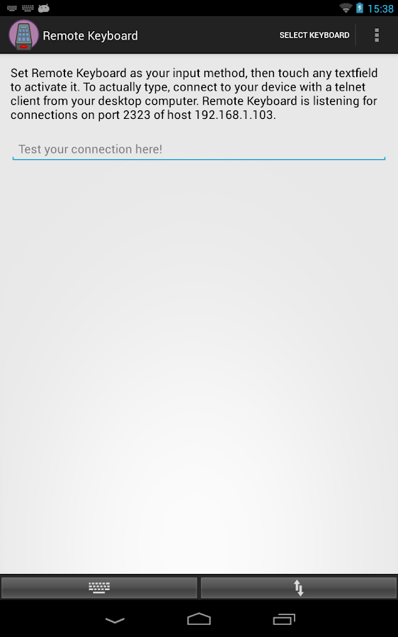 Remote Keyboard- screenshot