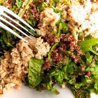 Meditarranean Tuna Salad with Red Quinoa & Mesclun.