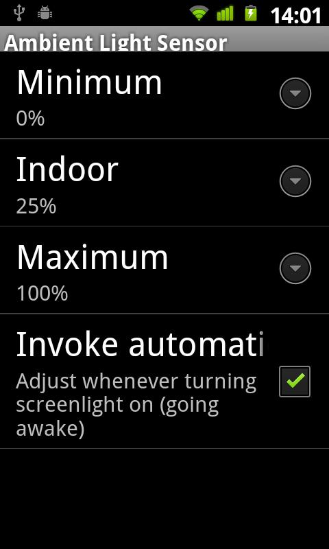 Ambient Light Sensor- screenshot