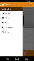 Screenshot of navpad for phone