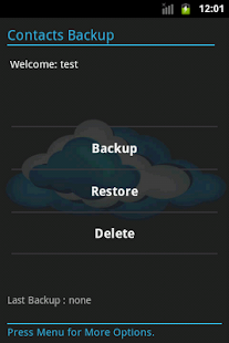 Contacts Backup - screenshot thumbnail