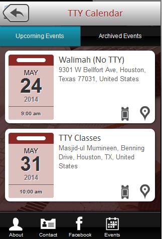 TTY Calendar