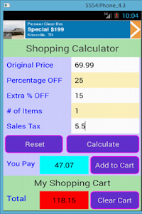 Shopping Calculator screenshot 3