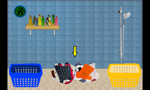 洗孩子衣服2