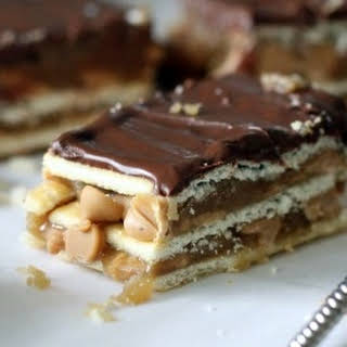 Chocolate, Peanut Butter and Caramel Club Bars.