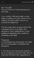 Screenshot of Art of War - Appbook Edition